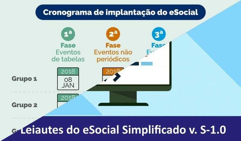 Publicada versão final do leiaute do eSocial Simplificado (S-1.0)